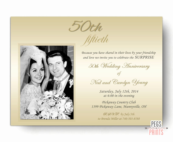 Surprise Wedding Invitation Wording Elegant Surprise Wedding Anniversary Invitation Surprise 50th