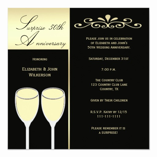 Surprise Wedding Invitation Wording Fresh Surprise 50th Wedding Anniversary Party Invitation