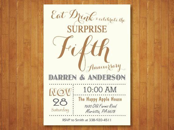 Surprise Wedding Invitation Wording Inspirational Surprise 50th Wedding Anniversary Invitation Fifth