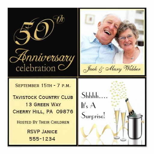 Surprise Wedding Invitation Wording Lovely Surprise Golden Wedding Anniversary Invitations