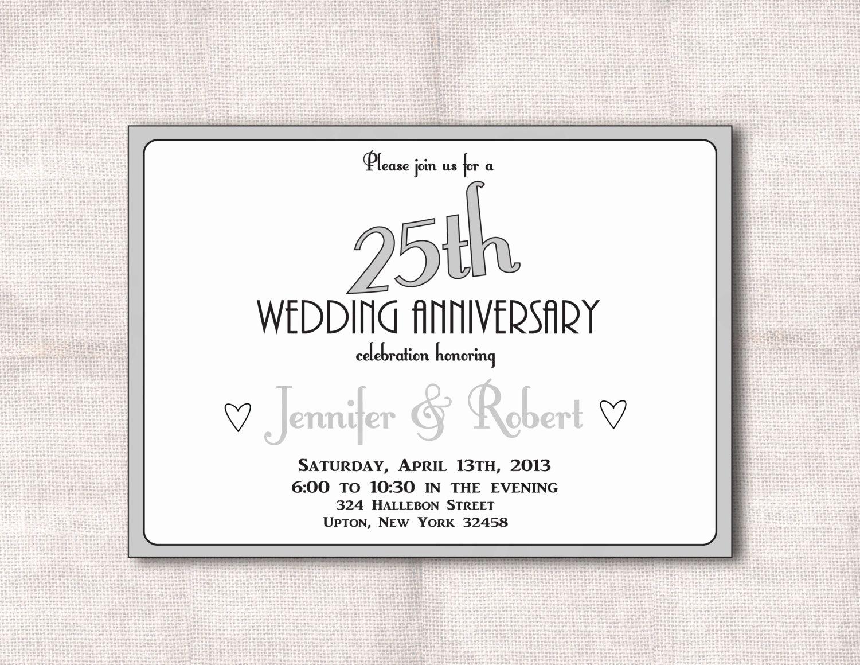 Surprise Wedding Invitation Wording New Surprise 25th Wedding Anniversary Invitation Templates