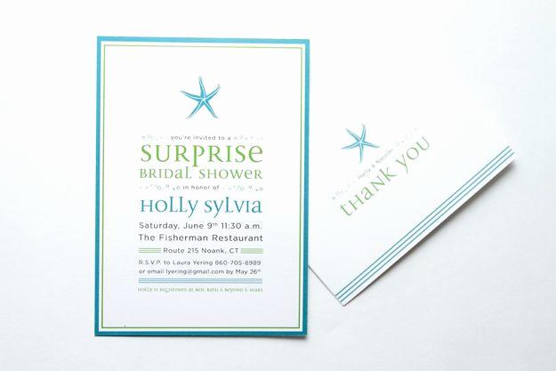 Surprise Wedding Invitation Wording Unique Custom Starfish Surprise Bridal Shower Invitations