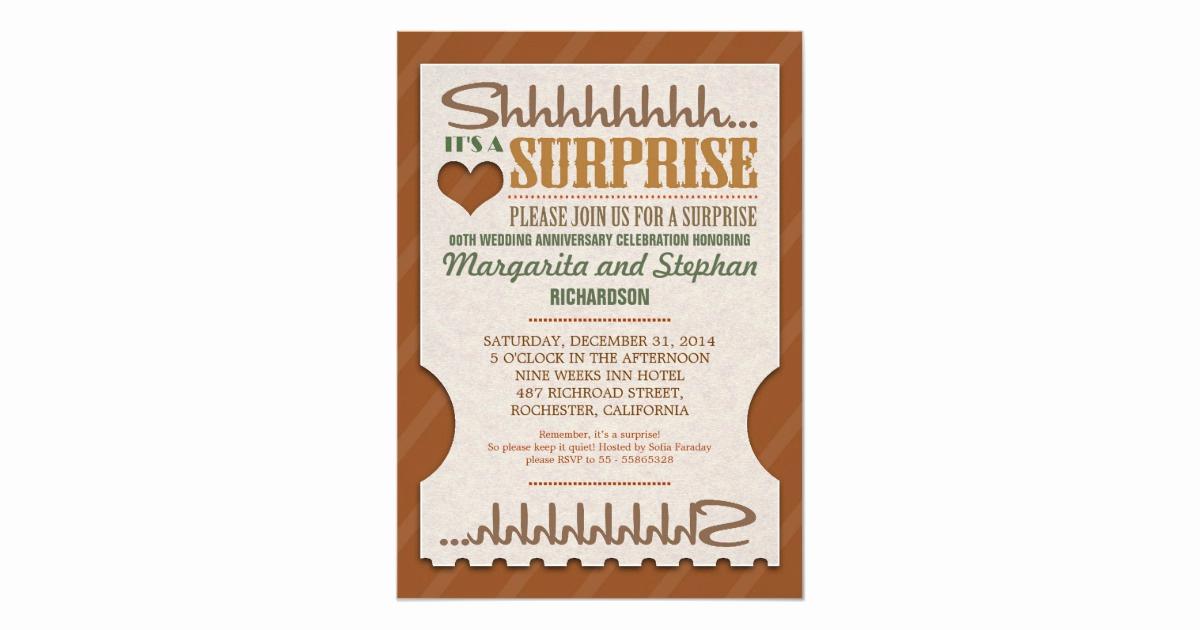 Surprise Wedding Invitation Wording Unique Surprise Wedding Anniversary Beautiful Invitations