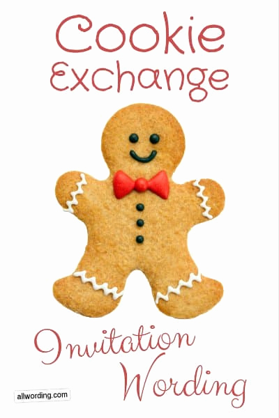 Swap Party Invitation Wording Inspirational Cookie Exchange Invitation Wording Allwording