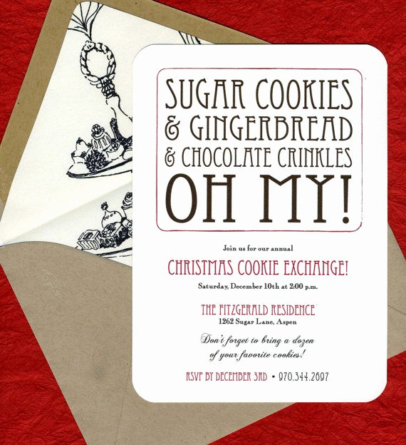 Swap Party Invitation Wording Inspirational Items Similar to Cookie Exchange Party Invitations On Etsy