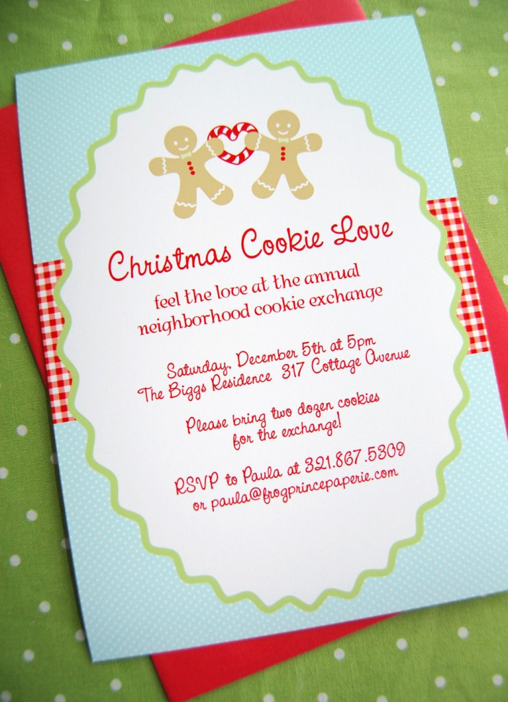 Swap Party Invitation Wording Inspirational New to Shop Gingerbread Christmas Cookie Love Frog