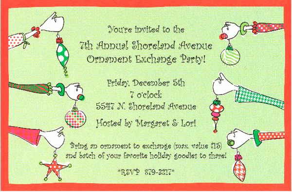 Swap Party Invitation Wording Inspirational Paper Celebration Planning A Holiday ornament Exchange Party