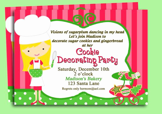 Swap Party Invitation Wording Lovely Christmas Cookie Invitation Printable or Printed with Free