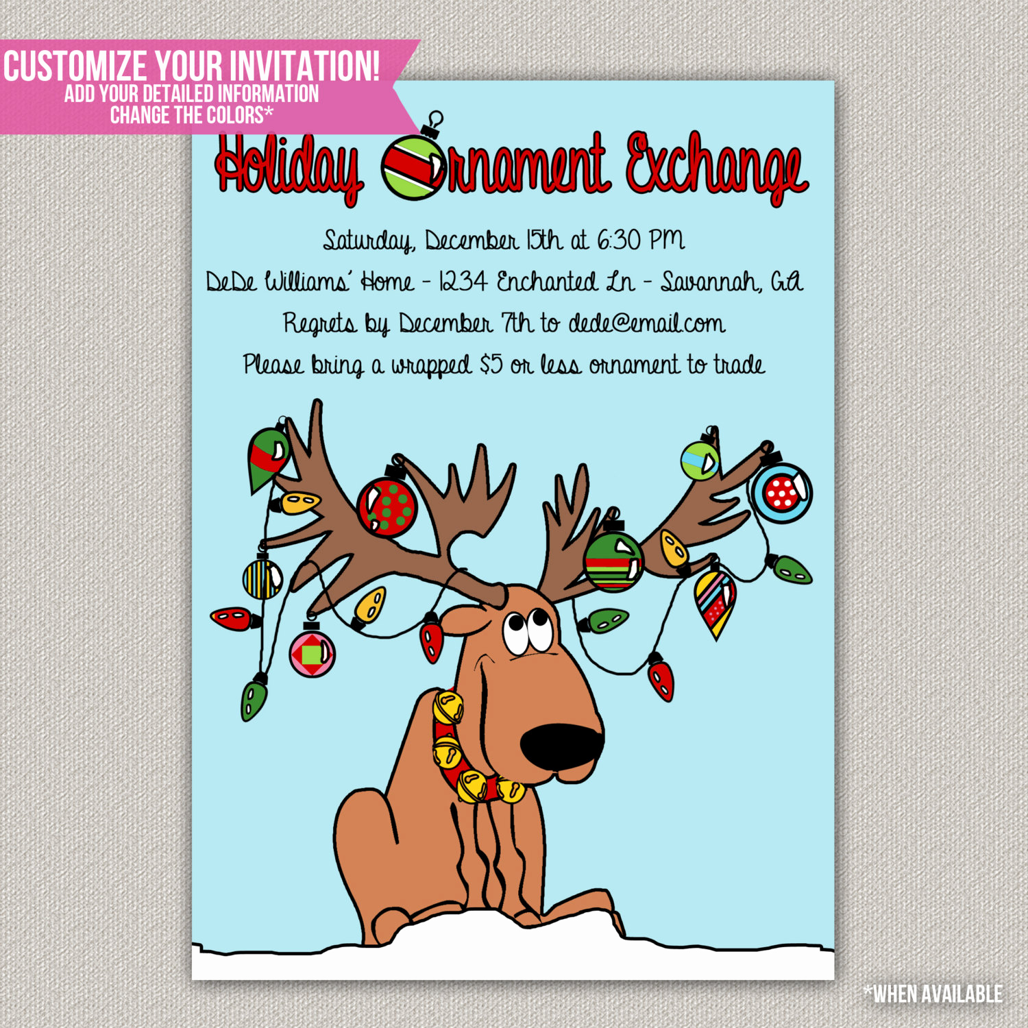 Swap Party Invitation Wording Lovely Holiday ornament Exchange Party Christmas by