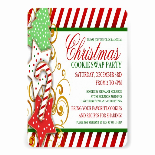 "Swap Party Invitation Wording Luxury Christmas Cookie Swap Party Invitation 5"" X 7"" Invitation"