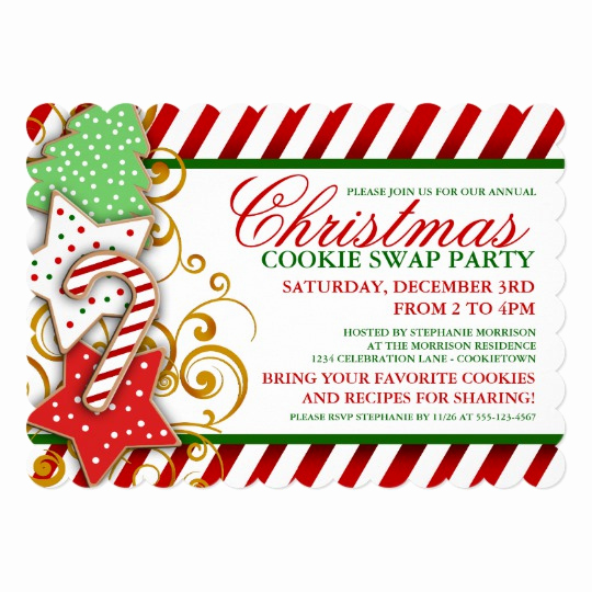 Swap Party Invitation Wording Luxury Christmas Cookie Swap Party Invitation