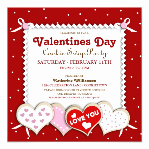 Swap Party Invitation Wording Luxury Valentines Day Cookie Swap Party Invitation