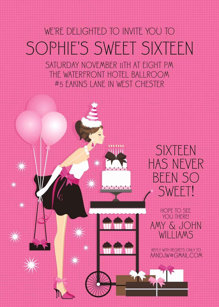 Sweet 15 Invitation Cards Awesome Sweet 16 Birthday Invitations Uk