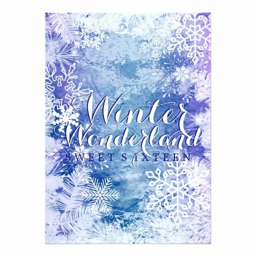 Sweet 15 Invitation Cards Awesome Winter Wonderland theme Sweet Sixteen Birthday Invitation