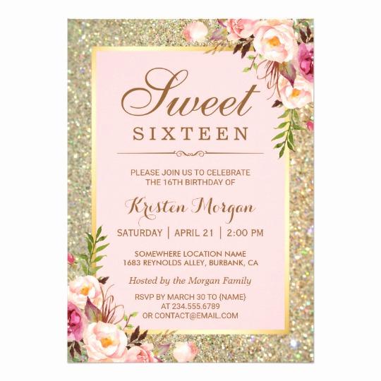 Sweet 15 Invitation Cards Beautiful Free Sweet 16 Birthday Invitations – Free Printable