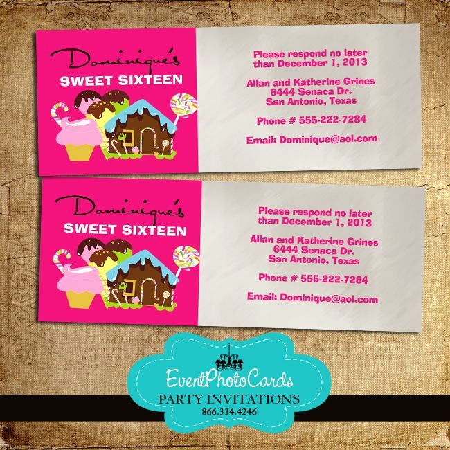 Sweet 15 Invitation Cards Best Of 16 Best Candyland Quinceanera Invitations Images On