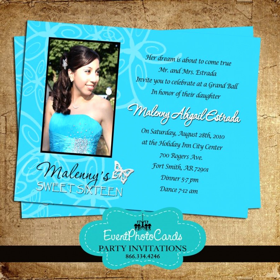 Sweet 15 Invitation Cards Fresh Turquoise butterfly Invitations Sweet 15
