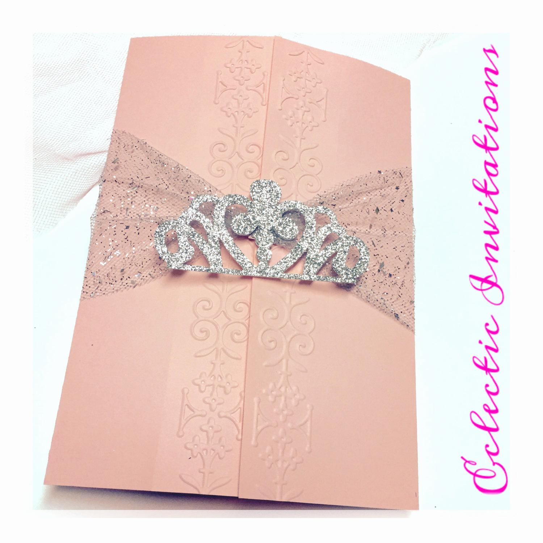 Sweet 15 Invitation Cards Lovely 50 Pink Princess Invitations Quinceañera Sweet 16 Birthday