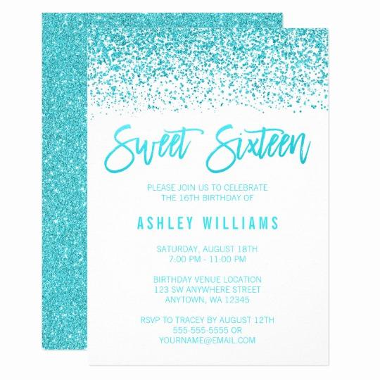 Sweet 15 Invitation Cards Lovely Sweet 16 Invitations