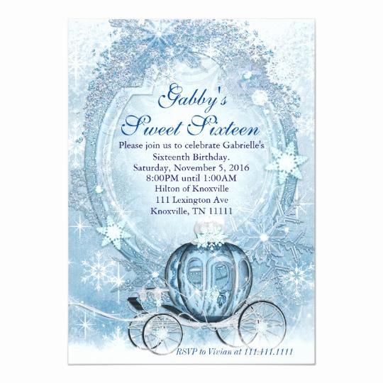 Sweet 15 Invitation Cards Luxury Cinderella Invitation Cinderella Sweet Sixteen Card