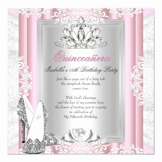 Sweet 15 Invitation Cards Luxury Quinceanera 15th Birthday Party Light Pink Shoes Card
