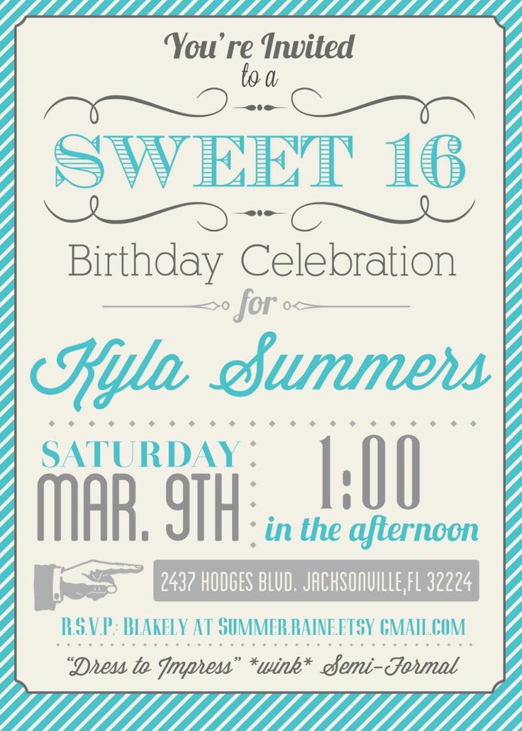 Sweet 15 Invitation Ideas Awesome Best 25 Sweet 15 Invitations Ideas On Pinterest