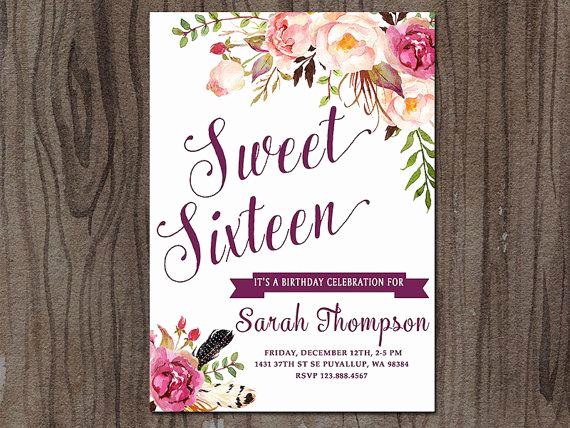 Sweet 15 Invitation Ideas Beautiful 17 Best Ideas About Sweet 16 Invitations On Pinterest