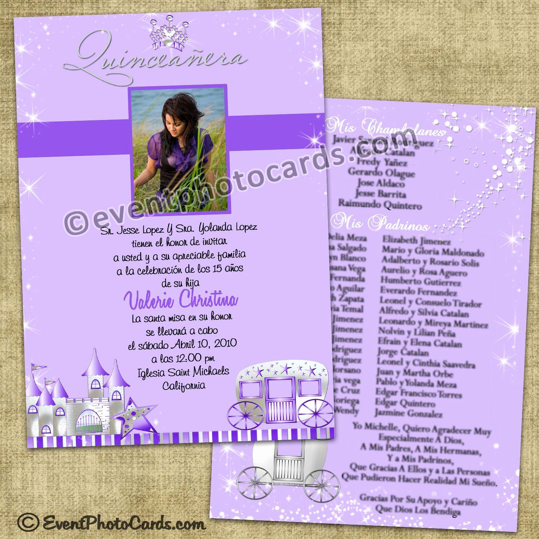 Sweet 15 Invitation Ideas Inspirational Purple Princess Quinceanera Invitations Sweet 15