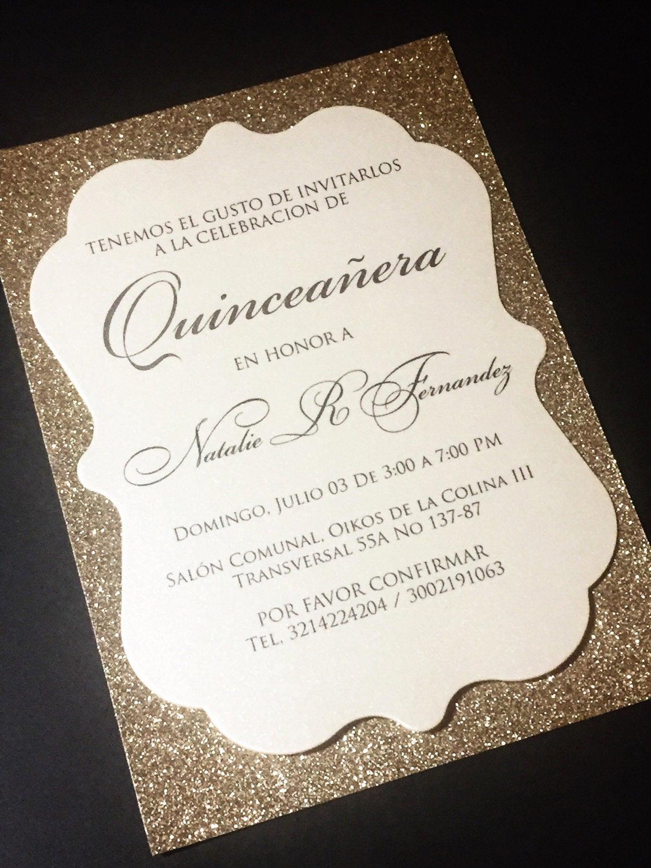 Sweet 15 Invitation Ideas Inspirational Quinceañera Invitation Sweet 16 Invitation Glitter