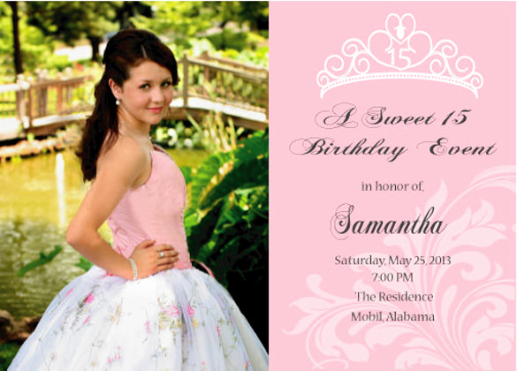 Sweet 15 Invitation Ideas Lovely 28 Quinceanera Invitations Templates Psd Vector Eps
