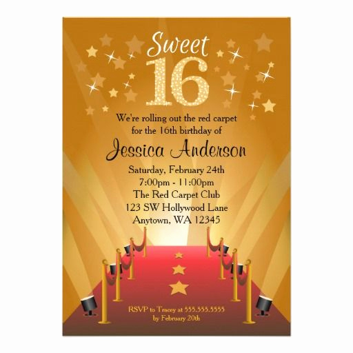Sweet 16 Invitation Cards Inspirational 1000 Images About Sweet 16 Birthday Invitations On