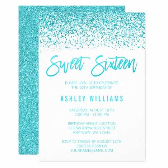 Sweet 16 Invitation Cards Lovely Sweet 16 Invitations