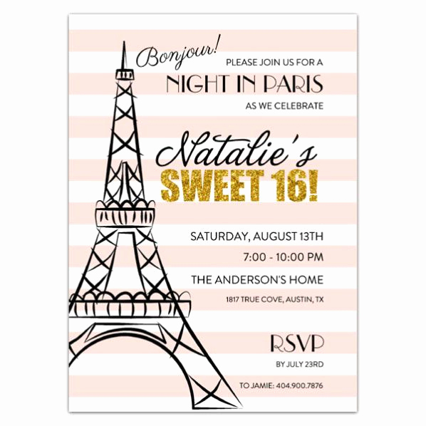 Sweet 16 Invitation Ideas Beautiful Best 25 Paris Sweet 16 Ideas On Pinterest