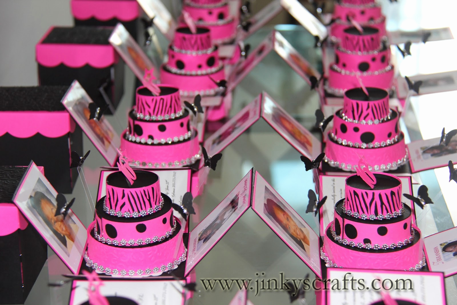 Sweet 16 Invitation Ideas Beautiful Jinky S Crafts & Designs Hot Pink Zebra Print Cakes Invites