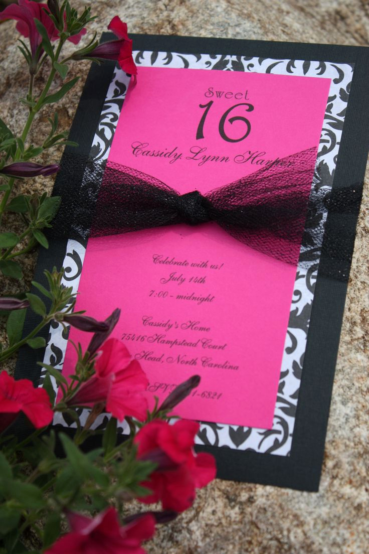 Sweet 16 Invitation Ideas Fresh Best 25 Homemade Invitations Ideas On Pinterest