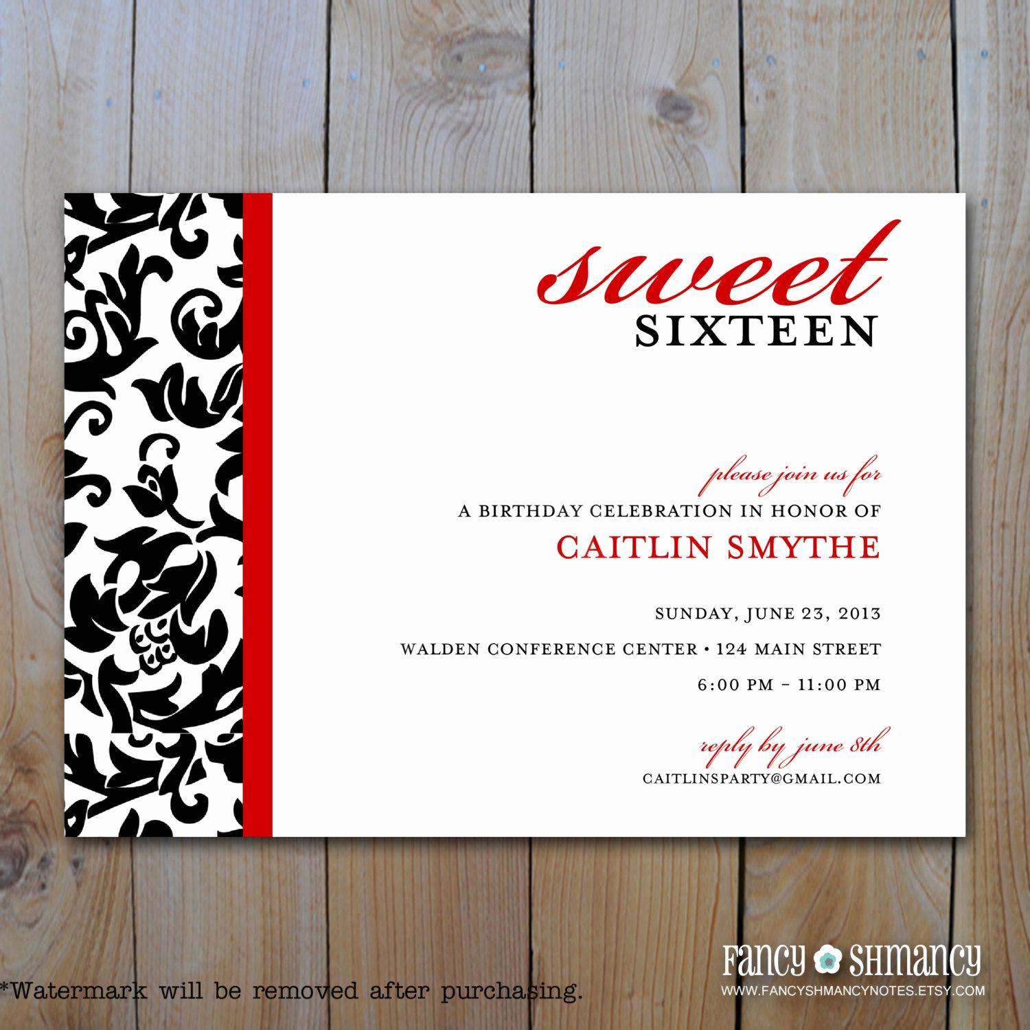 Sweet 16 Invitation Ideas Inspirational Birthday Party Sweet 16 Birthday Invitations Templates