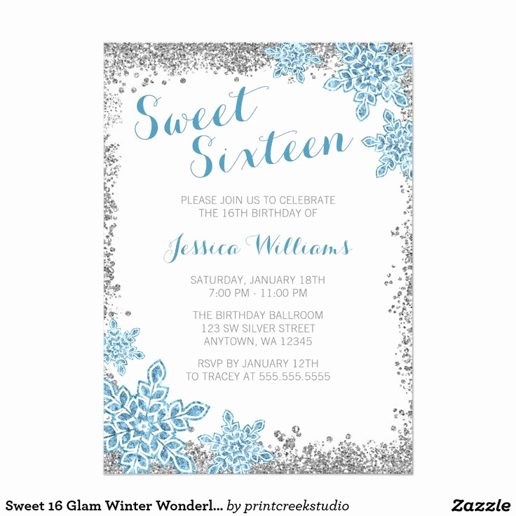 Sweet 16 Invitation Ideas New 10 Best Images About Winter Wonderland Sweet 16 Ideas On