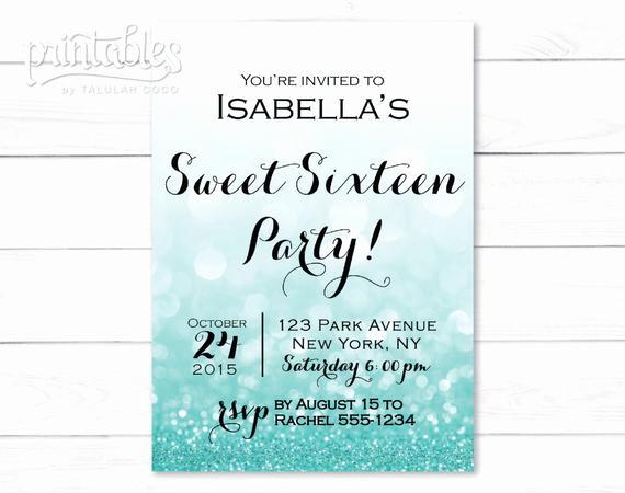 Sweet 16 Invitation Template Best Of Sweet Sixteen Invitation Template Digital Sweet 16