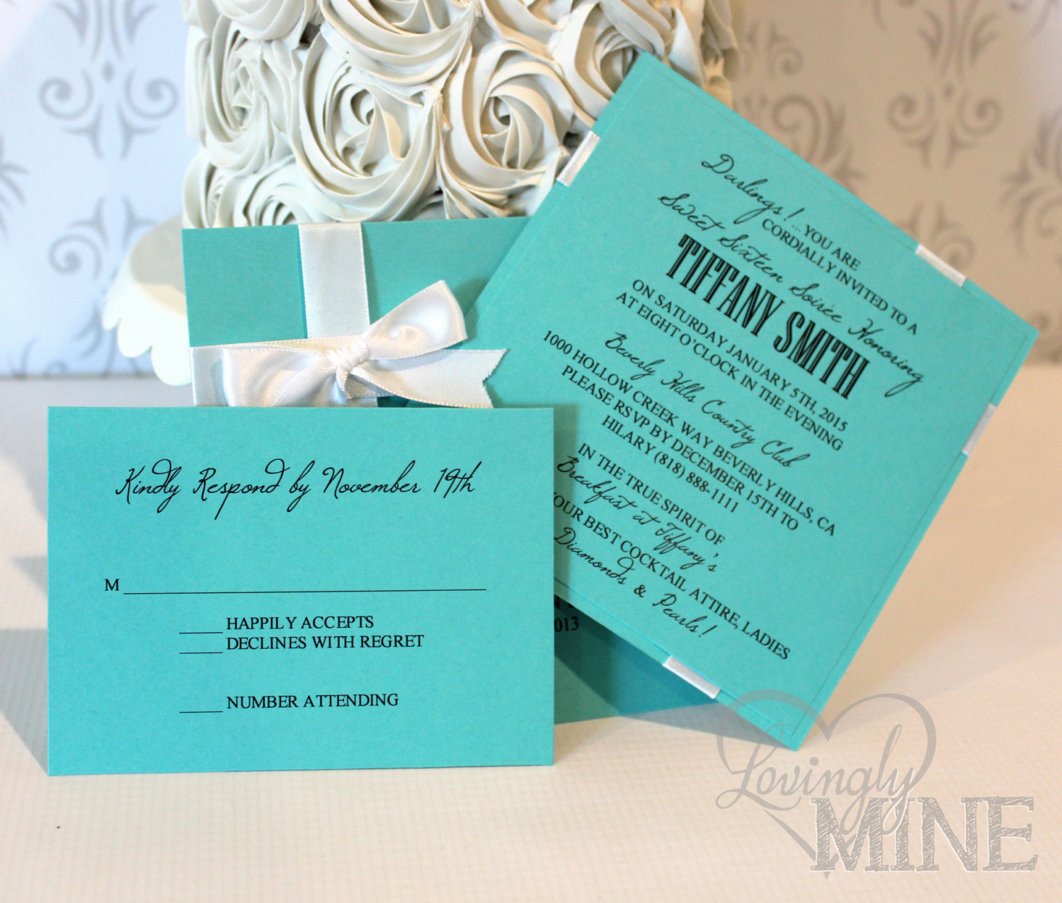 Sweet 16 Invitation Template Best Of Sweet Sixteen Invitations with Rsvp Card Set Of 10