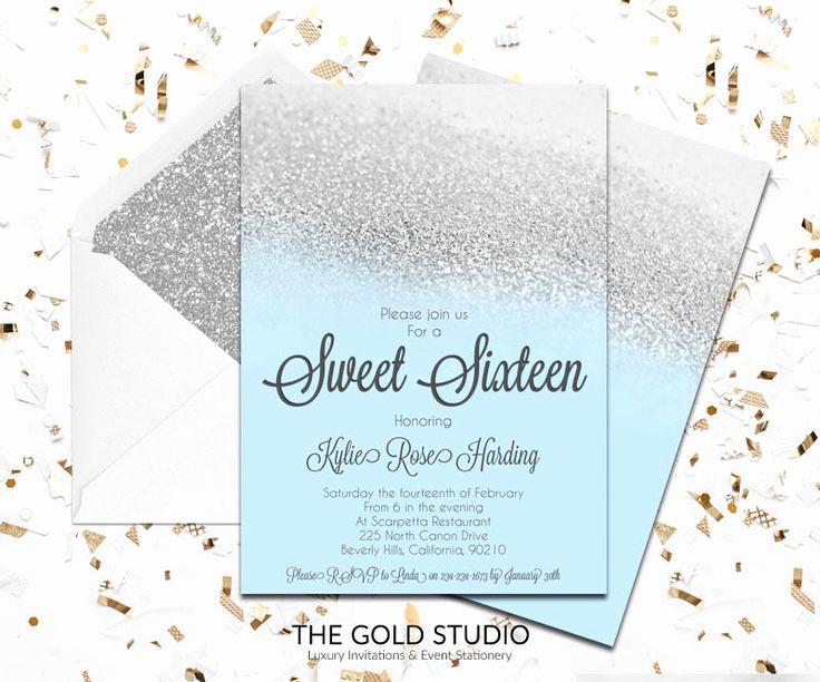Sweet 16 Invitation Template Luxury 24 Best Sweet 16 Invitations Images On Pinterest