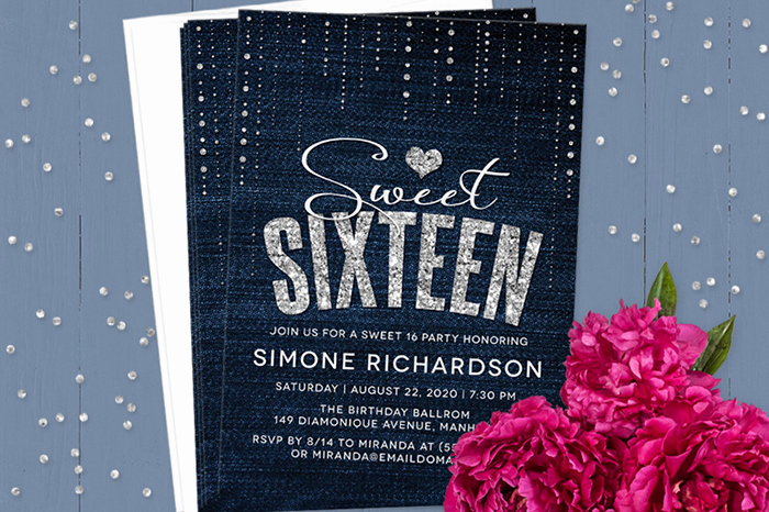 Sweet 16 Invitation Templates Best Of Sweet 16 Invitation Wording