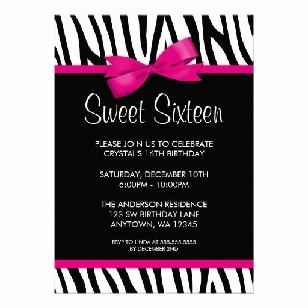 Sweet 16 Invitation Templates Luxury Sweet 16 Party Invitation Templates