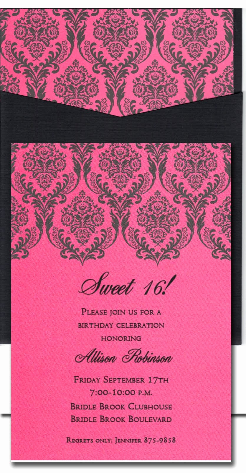 Sweet 16 Invitation Templates Luxury Sweet Sixteen Invitation Wording