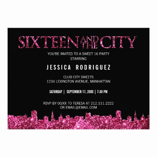 Sweet 16 Invitation Templates New Sweet 16 Birthday Invitations Wording