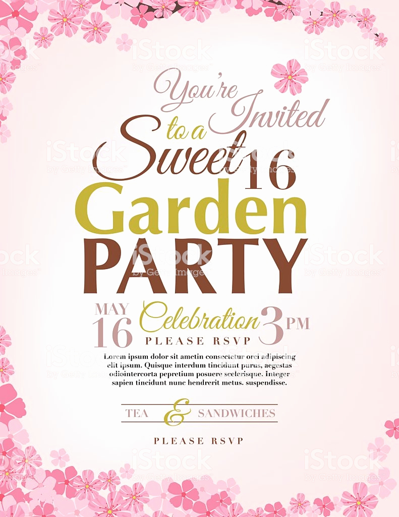 Sweet 16 Invitation Templates Unique Cherry Blossoms Sweet 16 Birthday Party Invitation