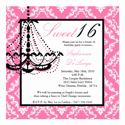 Sweet 16 Invitation Wording Fresh Sweet 16 Birthday Invitations Wording