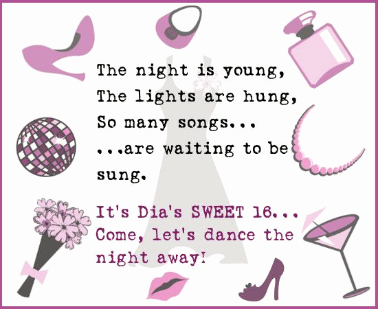 Sweet 16 Invitation Wordings Best Of 17 Best Images About Cards and Invitations On Pinterest