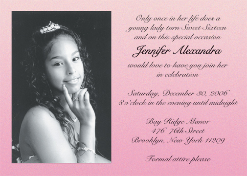 Sweet 16 Invitation Wordings Best Of Sweet Sixteen Invitation Style Sw16 51
