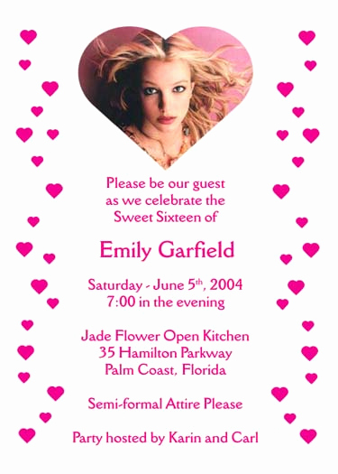 Sweet 16 Invitation Wordings Luxury Sweet 16 Invitation Wording