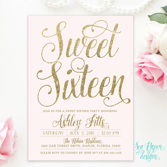 Sweet 16th Invitation Wording Beautiful 25 Best Ideas About Sweet 16 Invitations On Pinterest